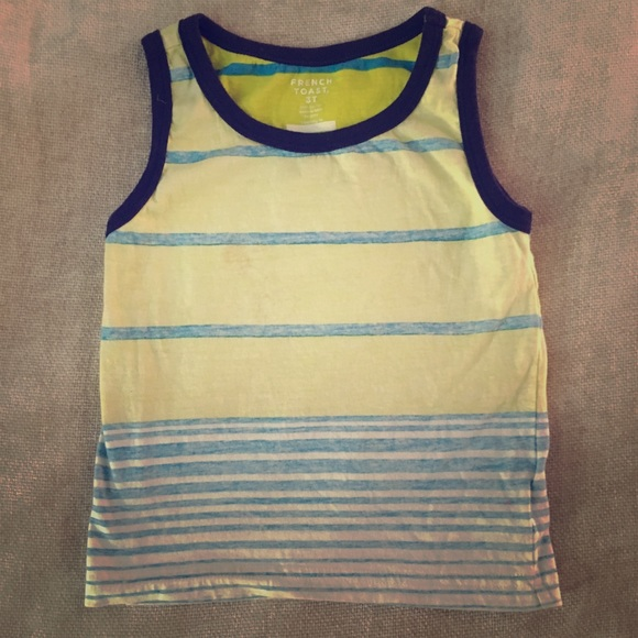 French Toast Other - 3T Reverse Print Tank Cute Toddler Boy